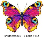 Stock vector butterfly 112854415
