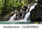 close up  foaming river water...   Shutterstock . vector #1128545852