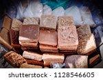 balaio with cocadas  rapaduras... | Shutterstock . vector #1128546605