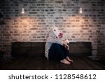unusual young man in comical...   Shutterstock . vector #1128548612