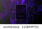 circuit board high technologies ... | Shutterstock .eps vector #1128549752