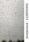 rain drops on the windshield. | Shutterstock . vector #1128554342