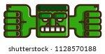 totem  flat vector icon. green... | Shutterstock .eps vector #1128570188