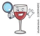 detective wine character... | Shutterstock .eps vector #1128594092