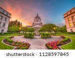 olympia  washington  usa state... | Shutterstock . vector #1128597845