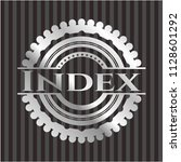 index silvery emblem or badge | Shutterstock .eps vector #1128601292