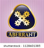 gold shiny badge with...   Shutterstock .eps vector #1128601385