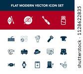 modern  simple vector icon set... | Shutterstock .eps vector #1128622835