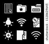 interface related set of 9... | Shutterstock . vector #1128629645