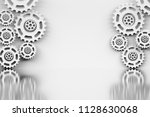 template background with... | Shutterstock . vector #1128630068