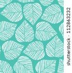 seamless blue stylized leaf... | Shutterstock . vector #112863232