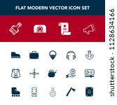 modern  simple vector icon set...