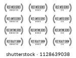 movie award best tv show series ... | Shutterstock .eps vector #1128639038