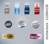 sale stickers | Shutterstock .eps vector #112864138