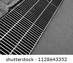 steel pedestrian drainage | Shutterstock . vector #1128643352