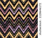 seamless ethnic zigzag chevron... | Shutterstock .eps vector #1128646172