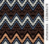 seamless ethnic zigzag chevron... | Shutterstock .eps vector #1128646178