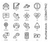 set of 16 icons such as virus ...
