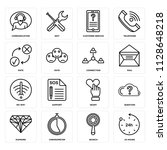 set of 16 icons such as 24...
