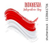 17 august  indonesia... | Shutterstock .eps vector #1128661736