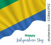17 august  gabon independence... | Shutterstock .eps vector #1128661952