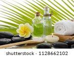 spa still life with black... | Shutterstock . vector #1128662102