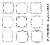 set of vector vintage frames on ... | Shutterstock .eps vector #1128664565