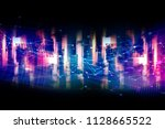 virtual light city... | Shutterstock . vector #1128665522