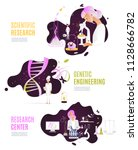 set research chemistry science... | Shutterstock .eps vector #1128666782
