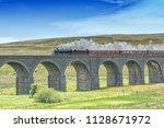 stanier steam locomotive on... | Shutterstock . vector #1128671972