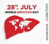happy world hepatitis day... | Shutterstock .eps vector #1128673352