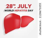 happy world hepatitis day...   Shutterstock .eps vector #1128673355