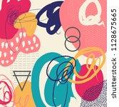 creative doodle art header with ...   Shutterstock .eps vector #1128675665