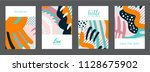 set of creative universal... | Shutterstock .eps vector #1128675902