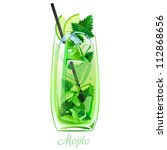 mojito cocktail or drink with...