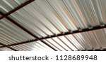 stainless steel roof | Shutterstock . vector #1128689948