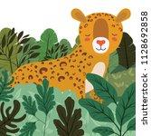 wild cheetah in the jungle scene | Shutterstock .eps vector #1128692858