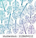 leafs plant ecology pattern | Shutterstock .eps vector #1128694112