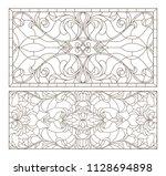 set contour illustrations of... | Shutterstock .eps vector #1128694898