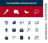 modern  simple vector icon set...   Shutterstock .eps vector #1128709658