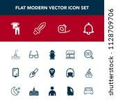 modern  simple vector icon set... | Shutterstock .eps vector #1128709706
