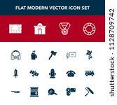 modern  simple vector icon set... | Shutterstock .eps vector #1128709742