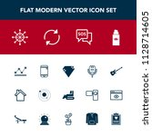 modern  simple vector icon set... | Shutterstock .eps vector #1128714605