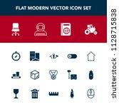 modern  simple vector icon set... | Shutterstock .eps vector #1128715838