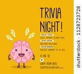 Trivia Night Poster With Brain...