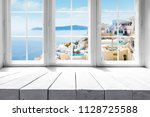 table background and window... | Shutterstock . vector #1128725588