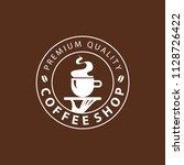 coffee shop logo design element ...   Shutterstock .eps vector #1128726422