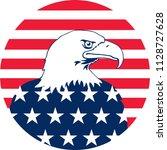 bald eagle illustration. vector ... | Shutterstock .eps vector #1128727628