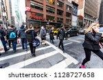 new york city  usa   april 6 ...   Shutterstock . vector #1128727658