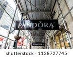 new york city  usa   april 7 ... | Shutterstock . vector #1128727745